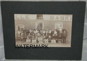 RARE CANADIAN ORIGINAL OAKVILLE BASKET CO. PHOTO, c1897-98