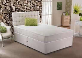 🌷💚🌷SINGLE DOUBLE AND KING 🌷💚🌷BRAND NEW DOUBLE DIVAN BED WITH DEEP QUILT MATTRESS