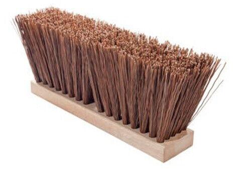 "Magnolia Brush #1624 24"" Brown Polypropylene Street Broom Push Broom Head"