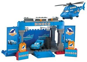 Mega Bloks Disney Cars Dinoco Stage In Excellent Clean Condition