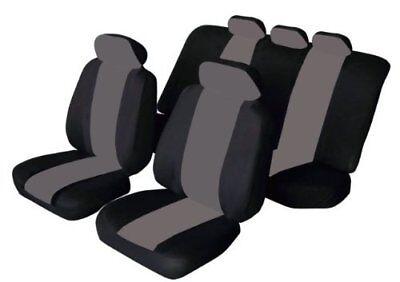 11 PCE FLORIDA BLACK/GREY Seat Covers Honda Civic Accord CRV City Jazz