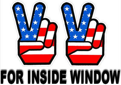 1960's Peace Sign Stickers, INSIDE GLASS / WINDOW, Retro Vintage Hippie (Inside Glass)