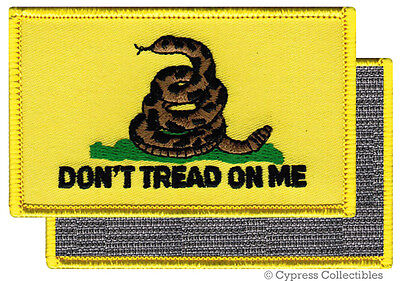 DONT TREAD ON ME GADSDEN FLAG PATCH AMERICAN YELLOW w/ VELCRO® Brand Fastener