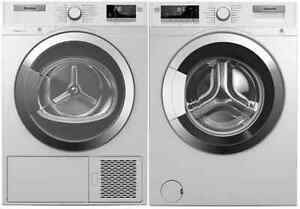 "Blomberg WM98400SX-DHP24412W 24"" Energy Star 24"" Washer and Heat Pump Dryer Pair on sale"