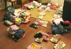 Girls Baby Clothing - 9-15 Months - New & Used! - Full Box $70