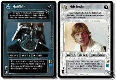 Star Wars CCG Reflections I (1) Complete Foil Set Luke Skywalker Darth Vader URF