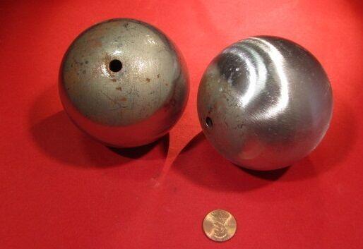 """Steel Hollow Sphere / Balls 3.00"""" Diameter, 2 Pieces"""