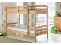 Brand New Solid Wood Bunk Beds with Mattresses