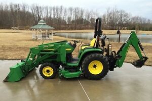 LOADER BACKHOE MOWER 2004 JOHN DEERE 4310 4X4 TRACTOR