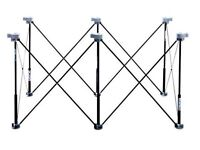 Set of two Centipede Tool K100 6 Strut Expandable 2' X 4' Portable Sawhorse and Work System Kits