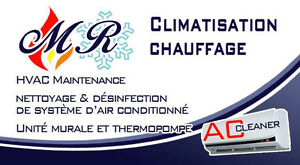 AC cleaner  nettoyage & desinfection d air climatise mural -ther