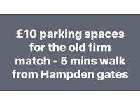 Hampden old firm parking spaces - 5 min walk to stadium - rangers celtic football