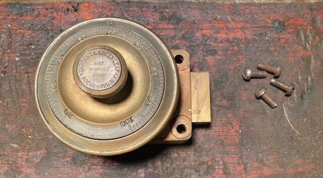 Antique Vintage Complete Sargent & Greenleaf Dial Safe 4# Combination 1906