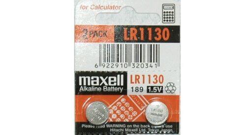2 Maxell Lr1130 Ag10 189 L1131 389 V10ga 1.5 V Battery