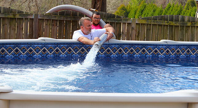 Above ground pool spring clearance sale hot tubs - Above ground swimming pool rental ...