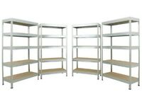 5 tier galvanised steel shelving units x 4