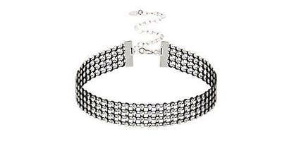 New Black Diamond Mesh Choker Necklace Collar Jewelry Fashion Vintage - Diamond Mesh Necklace