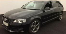 Audi A3 2.0TDI ( 170ps ) Sportback 2012MY Black Edition FROM £49 PER WEEK