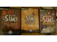 The sims original (Sims 1) & expansions On Holiday & Hot Date