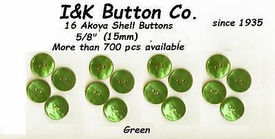 16 Akoya Shell Buttons 5/8