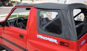2000 Suzuki Sidekick - Suzuki Sidekick Geo Tracker Soft Top With Clear Windows Black - 2000 Suzuki Sidekick
