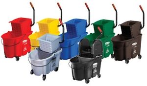 Mop Bucket With Down Press Wringer + Free Mops $29.95
