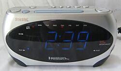 EMERSON RESEARCH - CKS1862 - SMARTSET AM/FM DUAL ALARM CLOCK RADIO - TESTED
