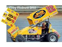 CD/_SC/_101 #5 David Gravel Go Muddy 2018 Sprint Car   1:18 Scale DECALS