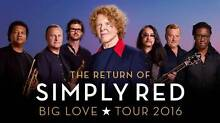 SIMPLY RED. GOLD .BLOCK 1 . WED 10/2 Face Value Attadale Melville Area Preview