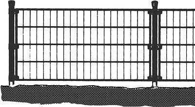 Einzelstabmatten Zaunmatten Anthrazit 2000x750mm Gittermatte Zaun Garten NEU&OVP