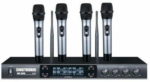 SINGTRONIC UHF-3500 PROFESSIONAL QUAD 4 x WIRELESS MICROPHONE