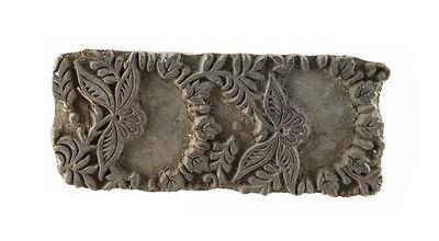 Antique Bunta Stamped Wood Printing Fabric Textile Batik Rajasthan India GD1