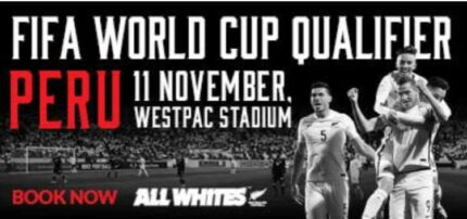 All Whites New Zealand Vs Peru 11/11/17    131.50