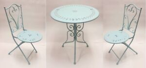 Brand New metal bistro set table and two chairs