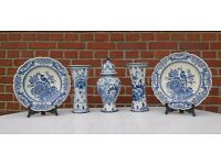 """Antique Handmade pottery from the firm """"Delft"""""""