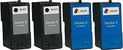 4 PACK For Dell Series 5 M4640/M4646 Ink Combo for 922 924 942 944 Printers ()