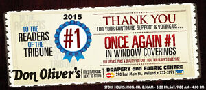 Don Oliver Draperies and Decorating Services, Anniversary Sale