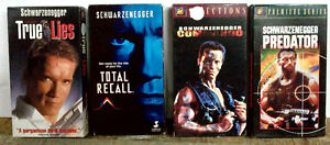 Action VHS tapes
