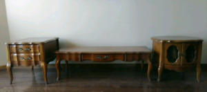 High End Vintage Solid Walnut Fitton-Parker Coffee Table Set