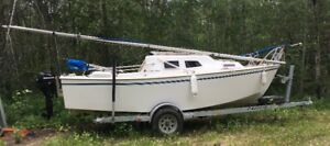 SAILBOAT, WEST WIGHT POTTER 19, EX COND, ONE OWNER, 19 FT