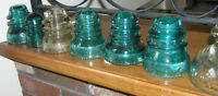 Antique Insulators Variety of Sizes/Colours