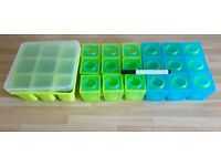 Brother Max 1st stage weaning pots & Nuby Garden Fresh Freezer Tray