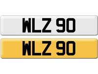 *WLZ 90* Dateless Personalised Cherished Number Plate Audi BMW M3 Ford VW Caddy Mercedes Vauxhall