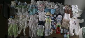 lot vêtements garçon nouveau née jusqu'a 3 mois