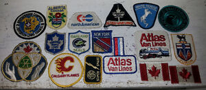 LOT OF OLD HOCKEY TRUCKING CRESTS PATCH COLLECTION