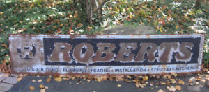 Antique Metal Sign