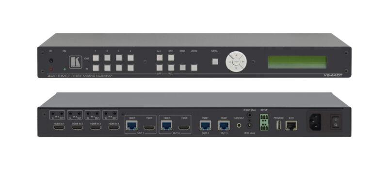 Kramer Vs-44dt 4x4 4k Uhd Hdmi Hdbaset Extended-reach Poe Matrix Switcher