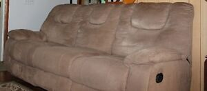 Reclining Sofa & Chair Set for sale