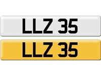 *LLZ 35* Dateless Personalised Cherished Number Plate Audi BMW M3 Ford VW Caddy Mercedes Vauxhall