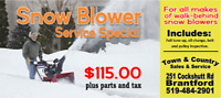 Snow Blower Service Special